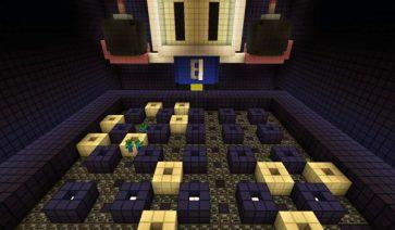 imagen de uno de los ocho escenarios o niveles del mapa Bomberman para Minecraft 1.1
