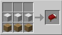 aqui vemos como es la receta para construir una cama en Minecraft.