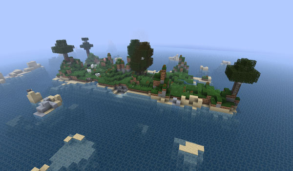 imagen del mapa de supervivencia y aventura Beached Hippo's Ultimate Survival Map, actualizado para jugar en Minecraft 1.1