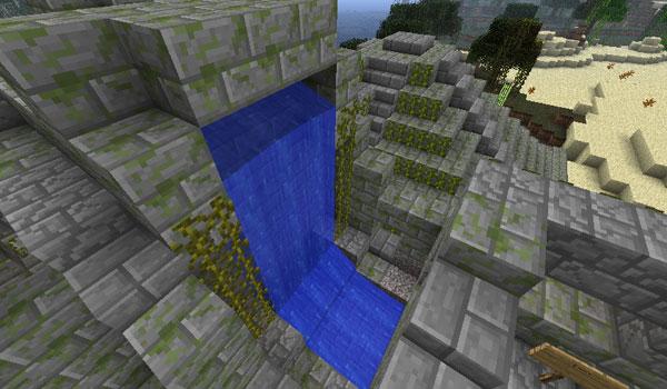 imagen del primer templo del mapa The Five Suns of Quetzalcoatl Map para la versión deMinecraft 1.1