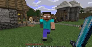 imagen donde vemos a herobrine siguiendo al personaje de Minecraft, este mod está disponible para la versión de Minecraft 1.1