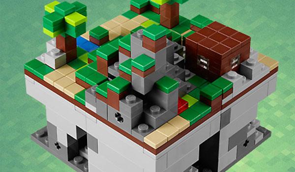 imagen del LEGO Minecraft Micro World, a la venta próximamente a un precio de 34,99 euros.