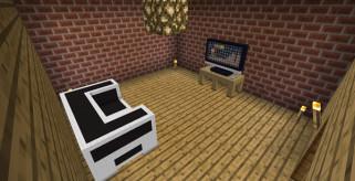 imagen donde vemos elementos decorativos creados con el mod Little Blocks para la versión 1.1 de Minecraft