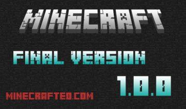 imagen sobre la versión final de Minecraft 1.0.0
