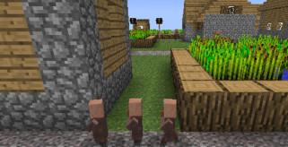 imagen donde vemos los pequeños aldeanos, detalle de la snapshot 12w07b de Minecraft.