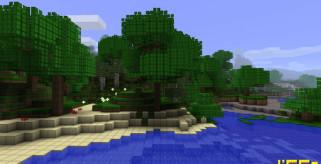imagen del terreno de Minecraft con el paquete de texturas oCd.