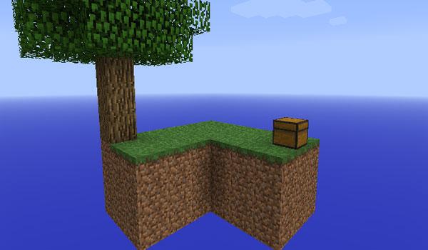 imagen del mapa de supervivencia Sky Block Survival Map, para la versión de Minecraft 1.1