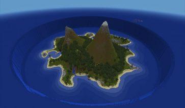 imagen de la isla hundida, un mapa de aventura para Minecraft 1.1, su nombre es Sunken Island Map.