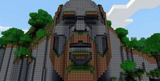 imagen del mapa del templo de notch, para Minecraft 1.1