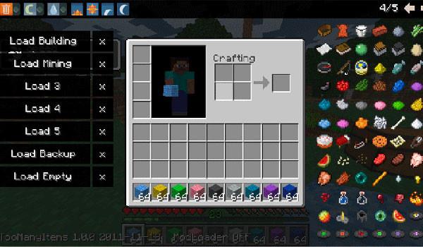 Too Many Items Mod para Minecraft 1.1