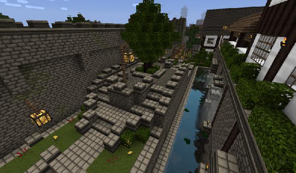 imagen de algunos bloques de construcciones con la textura auracraft 1.2.4