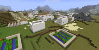 imagen de la creación de un poblado en el mod millenaire para Minecraft 1.2