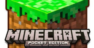 logo del juego Minecraft Pocket Edition, para dispositivos móviles.