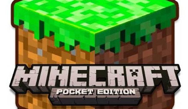 imagen del logotipo de Minecraft edición de bolsillo.