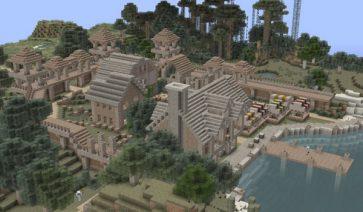 imagen de un poblado decorado con las texturas aza's arid 1.2.5