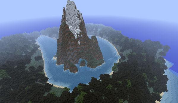 imagen de una de las grandes islas montañosas del mapa quad mountain 1.2.5