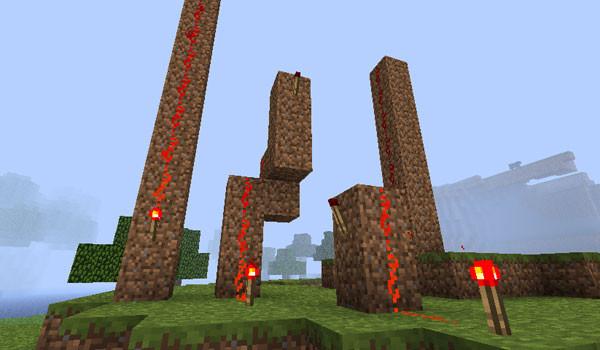 Vertical Redstone Mod para Minecraft 1.2.5