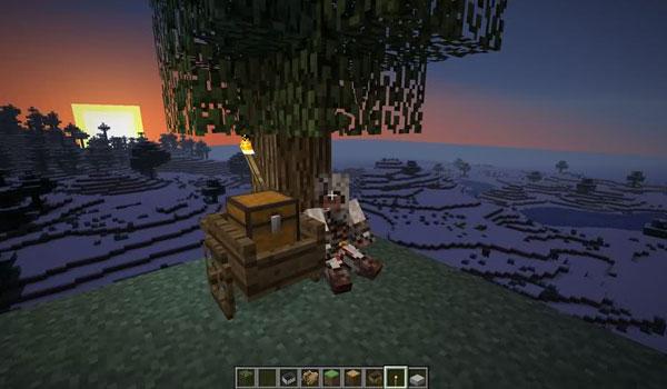 imagen donde vemos un carro de Minecraft gracias al mod, cart mod 1.2.5