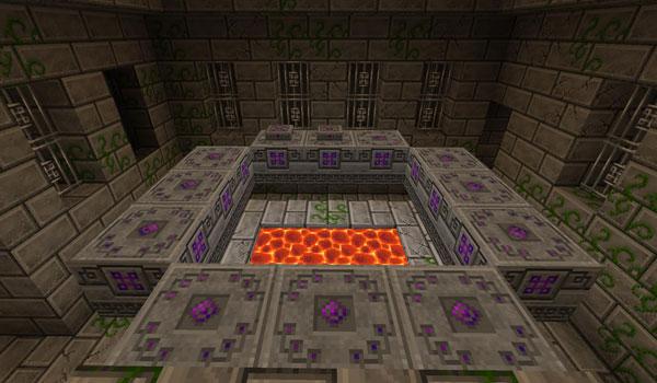 imagen de un portal, decorado con las nuevas texturas de DMPack Texture 1.2.5