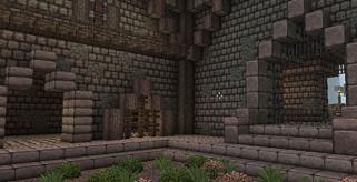 imagen del patio interior de una casa con jardin, decorado con el pack johnsmith 1.2.5