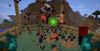 imagen de ejemplo donde vemos entrar en acción al mod, mob dismemberment 1.2.5