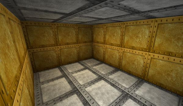 habitación decorada con metales como el hierro y el oro, gracias al paquete de texturas picture perfect 1.2.5