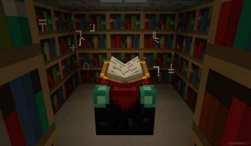 imagen de ejemplo de una habitación con libros, decorada con sharp design texture 1.2.5