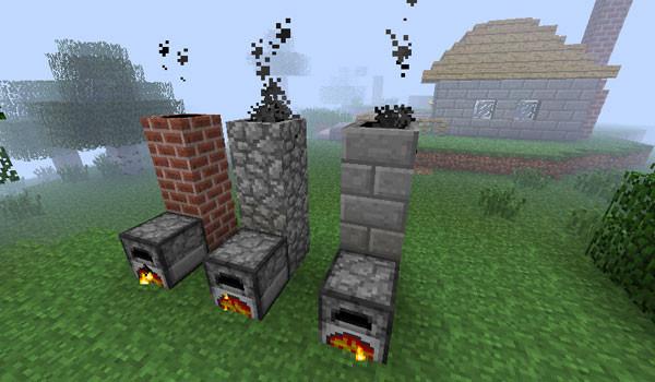 Smoking Chimney Mod para Minecraft 1.2.5