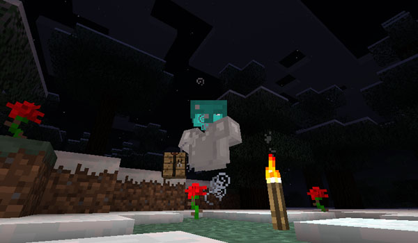 imagen de una armadura andando, con su personaje invisible en Minecraft 1.4