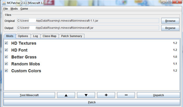 MC Patcher para Minecraft 1.3.2