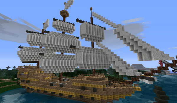 boat decorated by synthetic reality texture pack 1.3.2