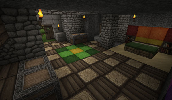 example of the rustic house, decorated by ovo's rustic 1.12, 1.11 and 1.10.