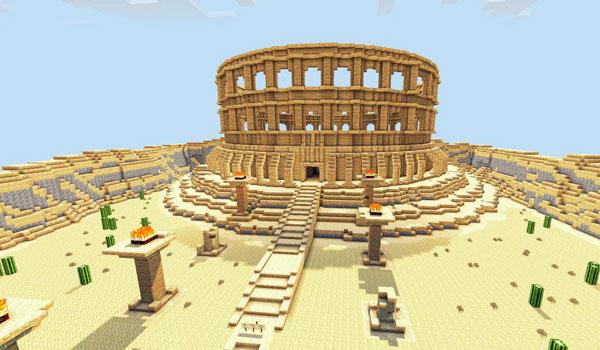imagen de una de las grandes construcciones del mapa Revenge Of The Gods 1.4