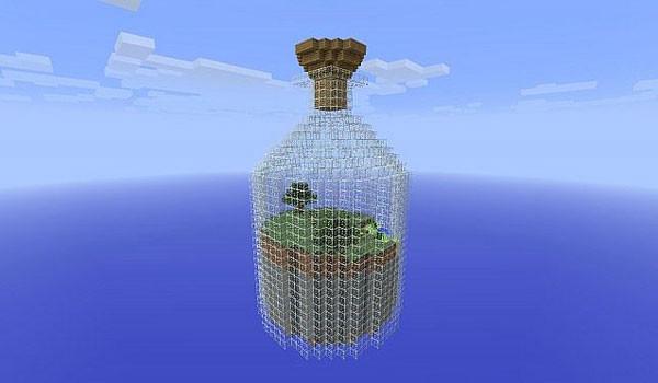 World in a Jar Survival Map para Minecraft 1.4.2