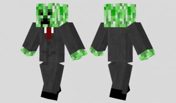 Business Creeper Skin para Minecraft