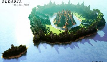 Eldaria Island Map para Minecraft 1.4.2