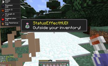 Status Effect Hud Mod para Minecraft 1.4.2