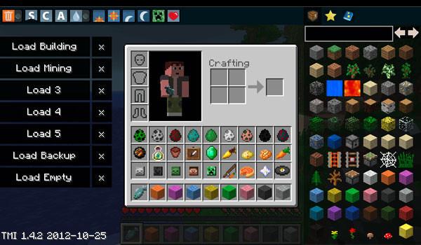 Too Many Items Mod para Minecraft 1.4.5