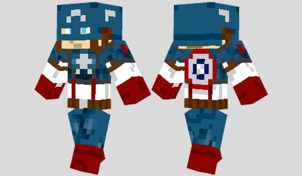 Captain America Skin para Minecraft