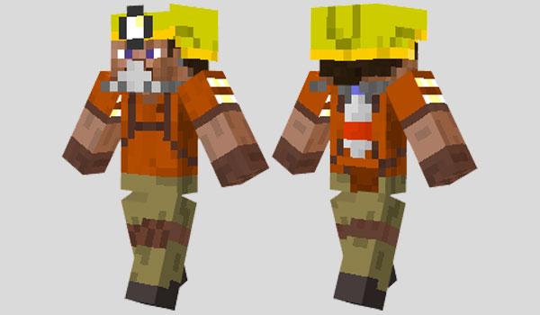 Safety Miner Skin para Minecraft