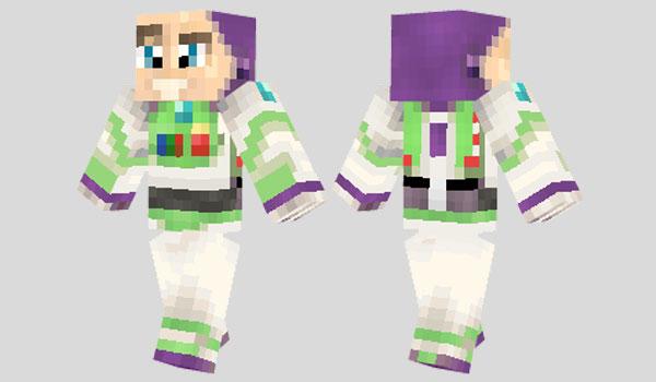 Buzz Lightyear Skin para Minecraft