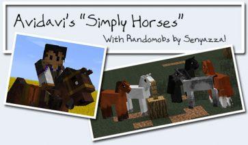 Simply Horses Mod para Minecraft 1.4.6 y 1.4.7