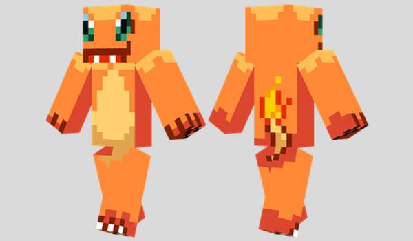 Charmander Skin Para Minecraft MineCrafteo - Skins fur minecraft skindex