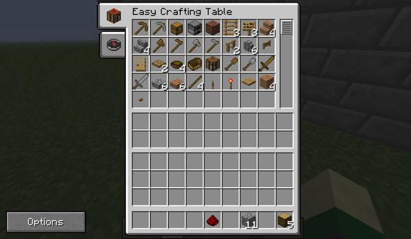 Easy Crafting Mod para Minecraft 1.5.1 y 1.5.2