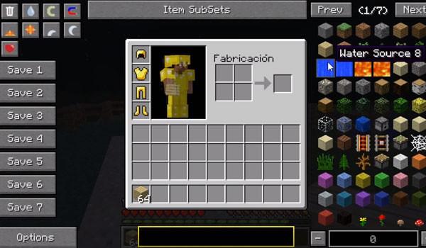 Not Enough Items Mod para Minecraft 1.5.1 y 1.5.2