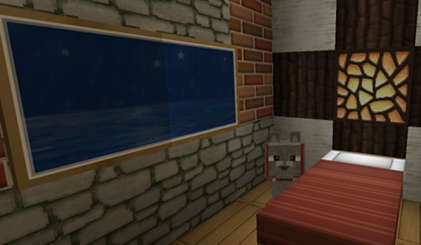 Imagen de una habitación decorada con las texturas de soartex fanver 1.14, 1.13 y 1.12.