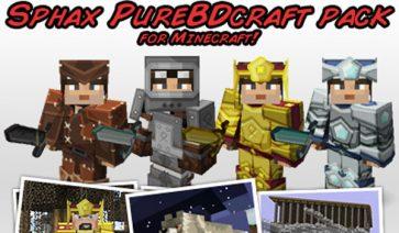 Sphax PureBDCraft Texture Pack para Minecraft 1.13 y 1.12