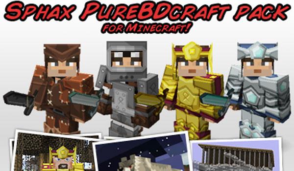 Sphax PureBDCraft Texture Pack para Minecraft 1.9 y 1.8