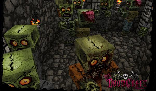 imagen de los originales zombies que añade el pack vondoomcraft 1.6.2
