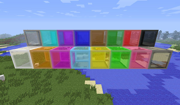 image where we can see some new crystals added Glasscraft mod 1.5.1